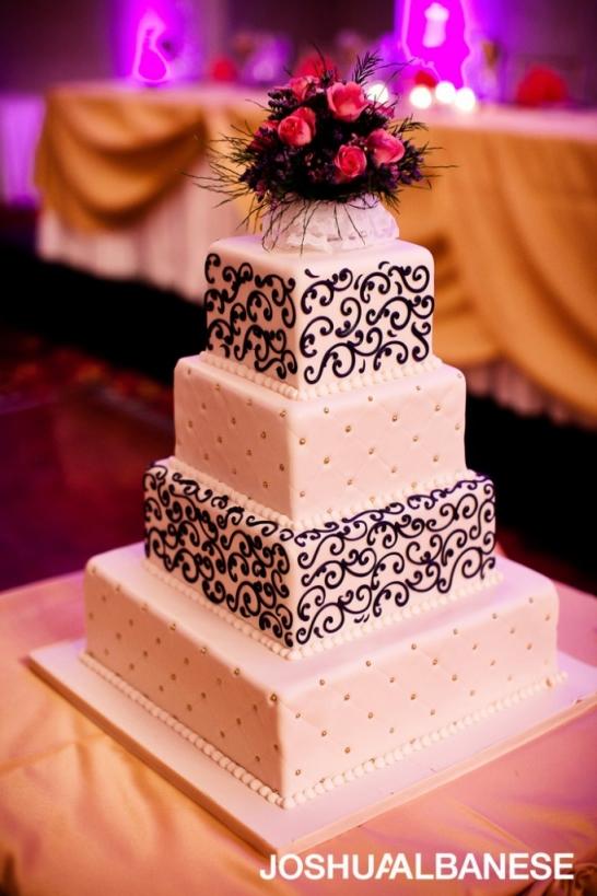 Chicago wedding photography Oak Mill Bakery wedding cakes