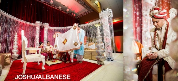 Vibrant Chicago Hindu Wedding Photography at The Meadows Club by photographer Joshua Albanese